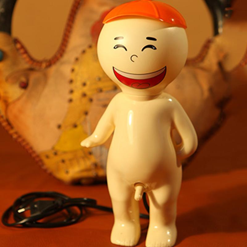 包邮 创意搞怪笑脸小男孩台灯