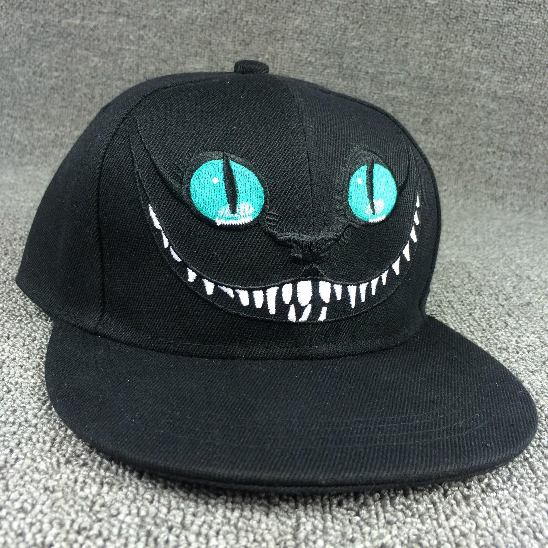 爱丽丝梦游仙境柴郡猫帽子卡通棒球帽嘻哈帽子男女夏天平沿帽遮阳