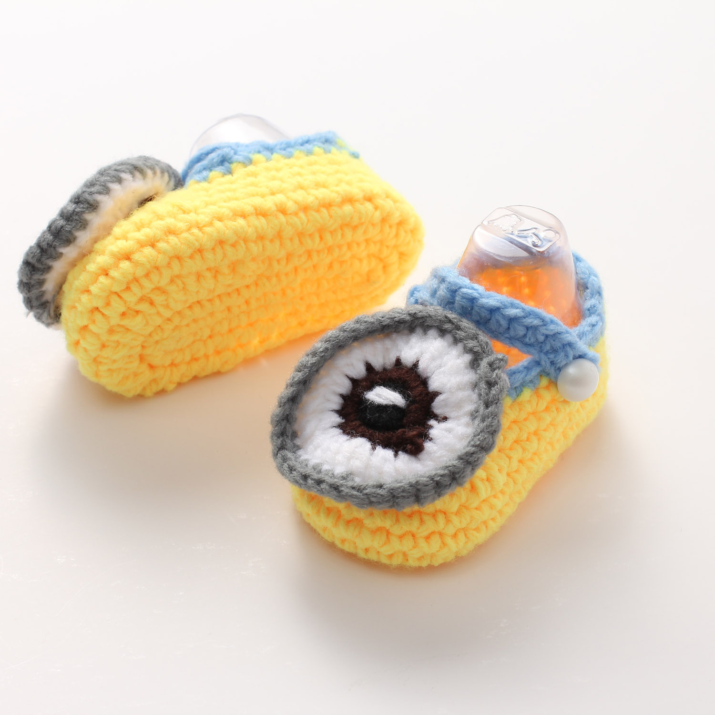 火立方2016新款新款宝宝鞋 手工编织毛线婴儿软底学步