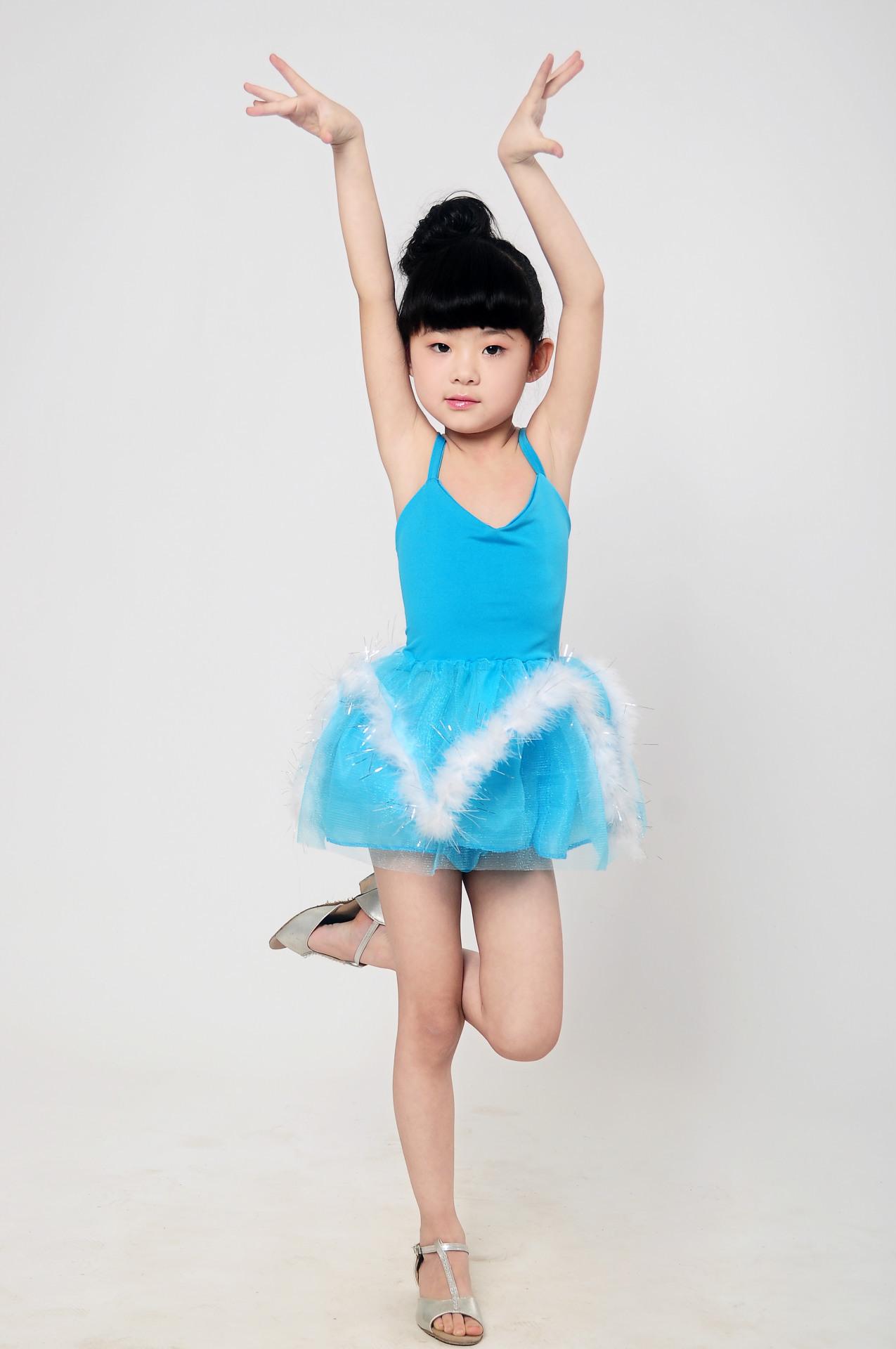 拉丁舞服装女童