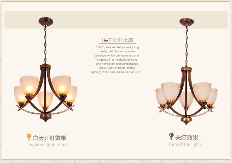 全科铁艺吊灯美式乡村新古典新中式欧式田园大厅灯具客厅灯饰卧室灯 5图片