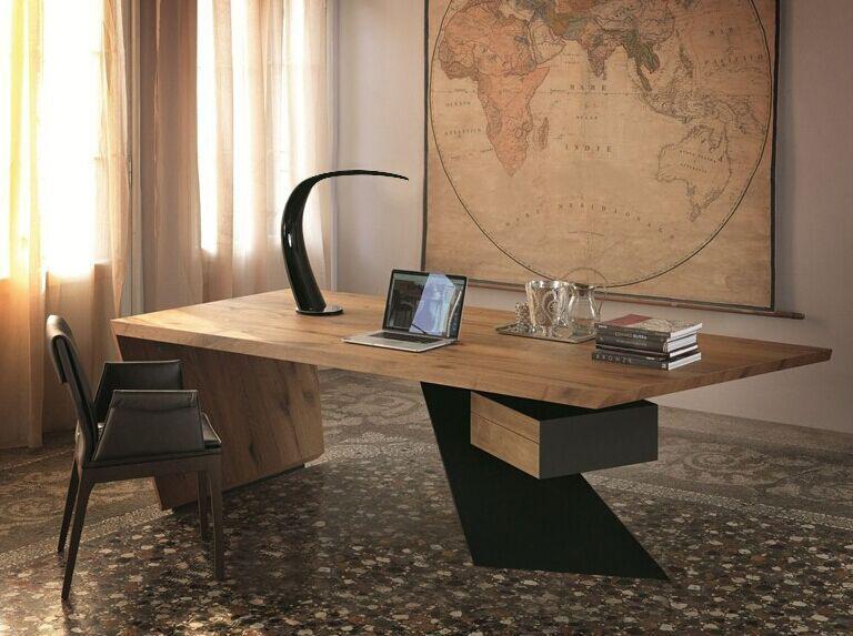 艺雅阁美式loft实木餐桌北欧书桌原木桌办公桌工作桌
