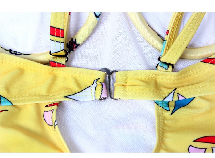 连体式游泳衣钢托