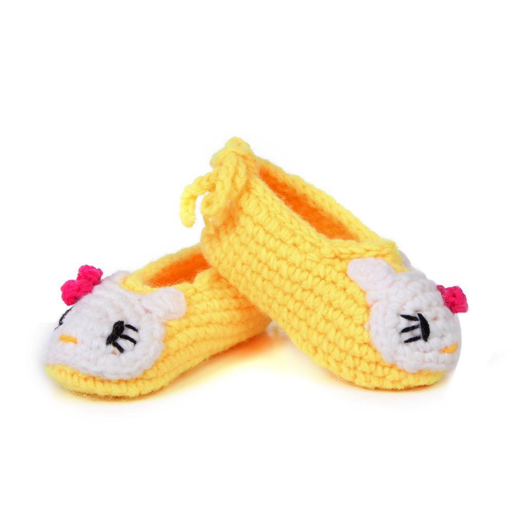 手工编织婴儿软底学步鞋