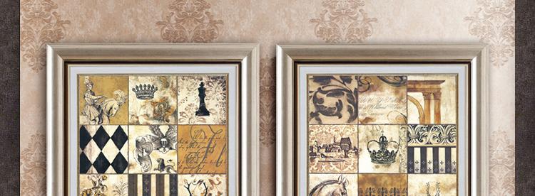 美式客厅装饰画 欧式走廊挂画 高档玄关壁画 田园餐厅图片