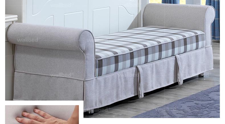 客厅家具 沙发床 尚族美居 尚族美居 欧式沙发壁床隐形床 带书架多图片