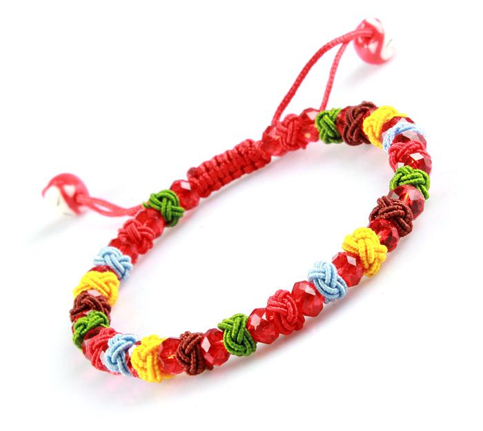 端午节五彩绳手链五色线金刚结款手工编织手绳礼品红绳女男手绳子