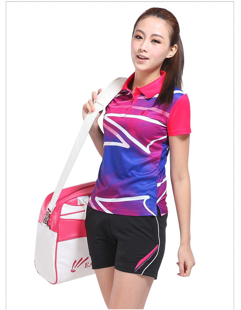 户外运动羽毛球服套装女夏季男女款网球服 速干运动服球衣 男上衣配