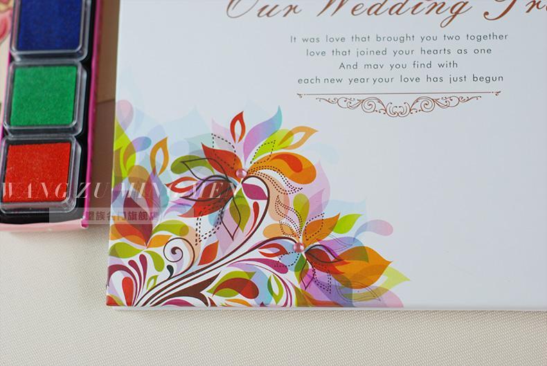 欧式婚礼创意签到本婚礼婚礼现场结婚婚庆签到本指纹韩式 盛果爱情树