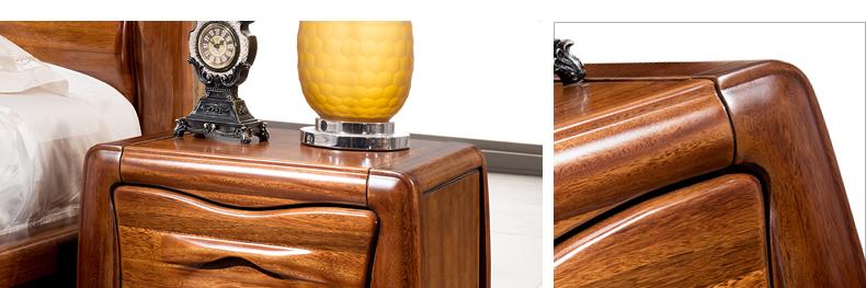 居克斯邦 实木床头柜 实木家具 现代简约【图片 价格
