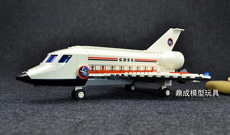 儿童益智拼装乐高积木玩具军事航天飞机航空火箭模型