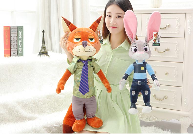 疯狂动物城公仔 兔子朱迪狐尼克毛绒玩具儿童布娃娃抱枕玩偶女 情侣一