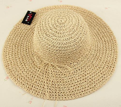 帽子女士遮阳帽 小辣椒大沿帽草帽 春夏季太阳帽韩版钩针沙滩防晒