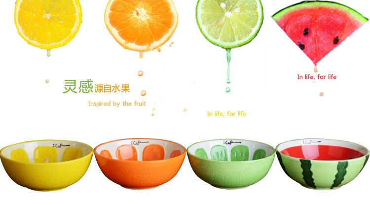 可爱手绘水果盘西瓜盘甜品盘日式创意陶瓷器餐具 水果