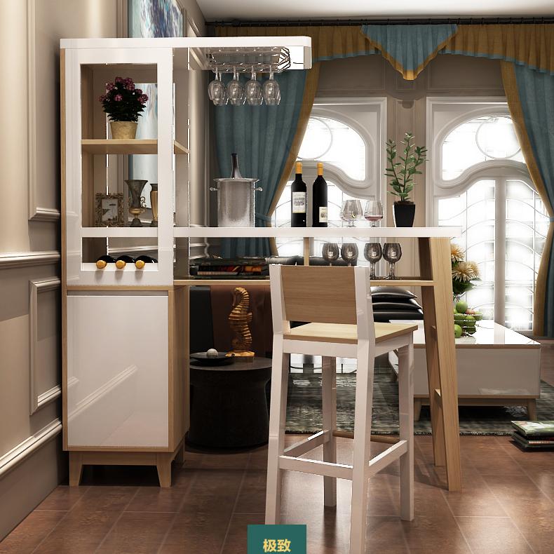 迁度生活 北欧隔断厅柜吧台 装饰柜玄关柜 烤漆间厅柜图片