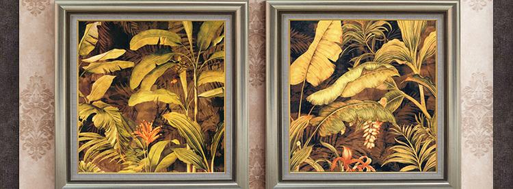东南亚风格装饰画 客厅玄关走廊壁画