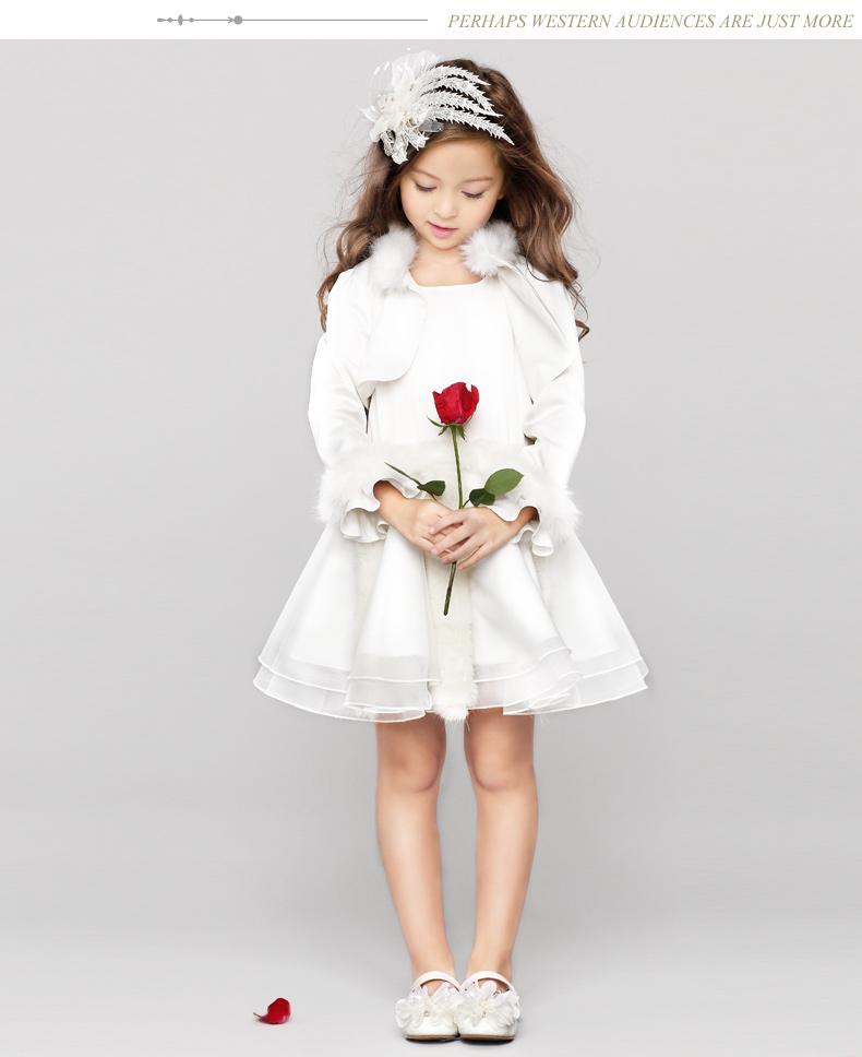 eyas儿童礼服公主裙女童婚纱花童礼服裙