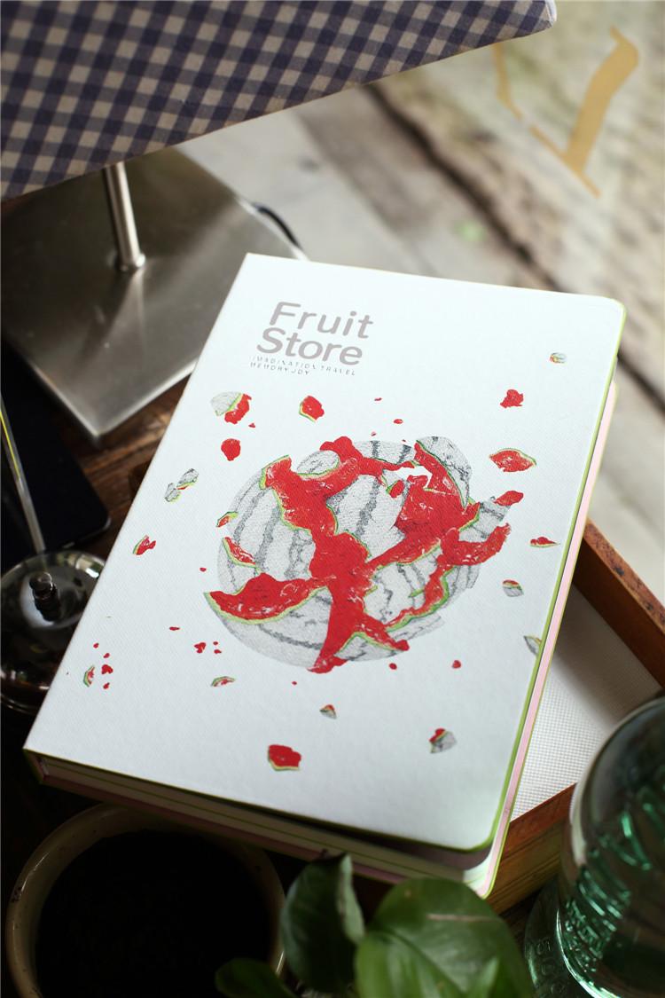 腾彩限量珍藏版 水果礼盒 笔记本文具 手绘本子 送礼佳 水果礼盒石榴