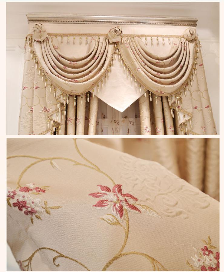 浮雕欧式窗帘客厅