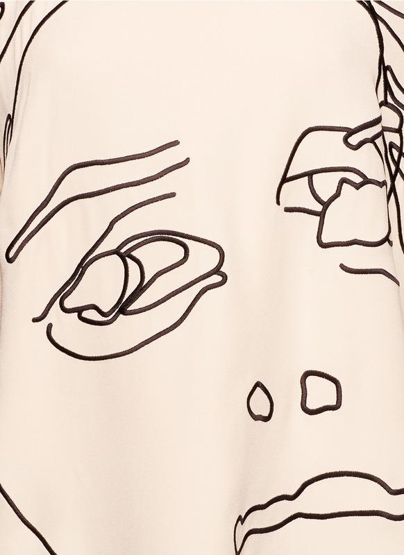 服装设计人脸手绘