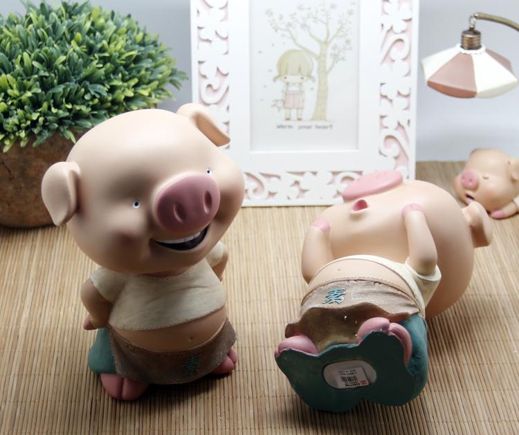 腾彩可爱萌宝猪仔钱罐创意卡通小猪储蓄罐特大零钱罐龙在哪里 中号一