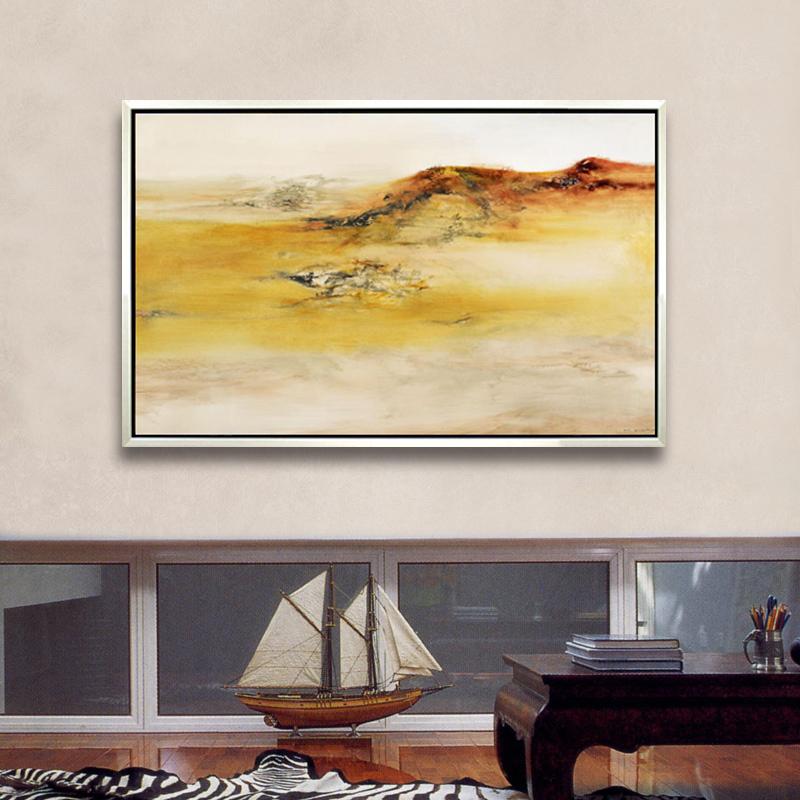 纯手绘临摹赵无极抽象油画 走廊玄关现代家居装饰画 客厅餐厅挂画 a款
