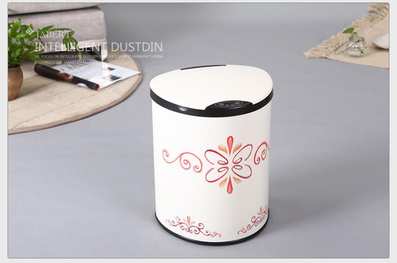 jabert嘉佰特电动垃圾桶手工绘画欧式家用客厅家庭桶