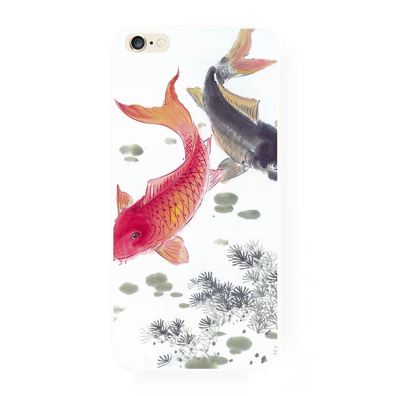 腾彩中国风手绘锦鲤鱼