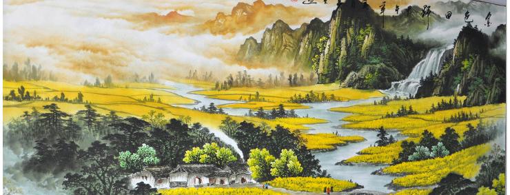金色田野 半手绘