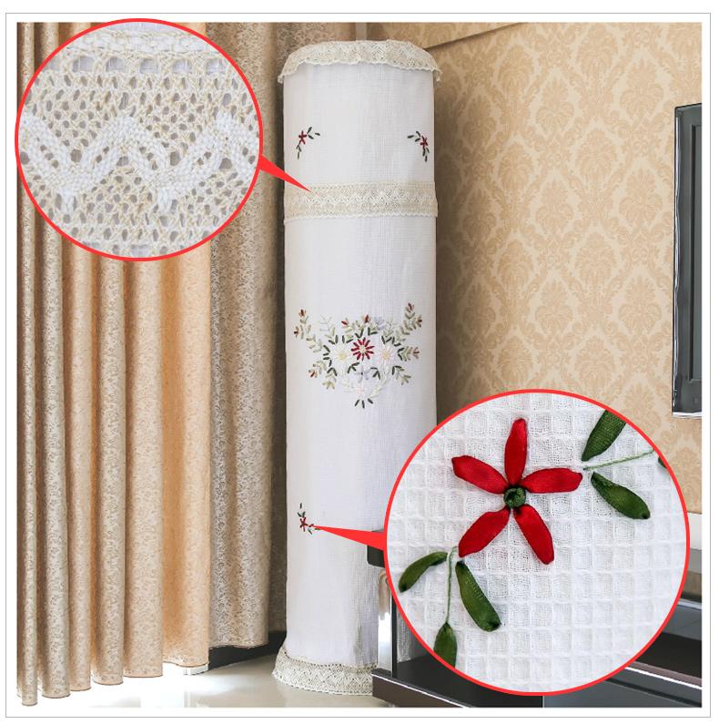 田园风光 圆形立式空调罩 圆柱柜机防尘罩套 美的海尔图片