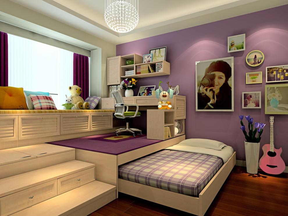 尚品宅配 全屋家具定制 母子床 榻榻米让空间形成2个层级 12㎡-14㎡