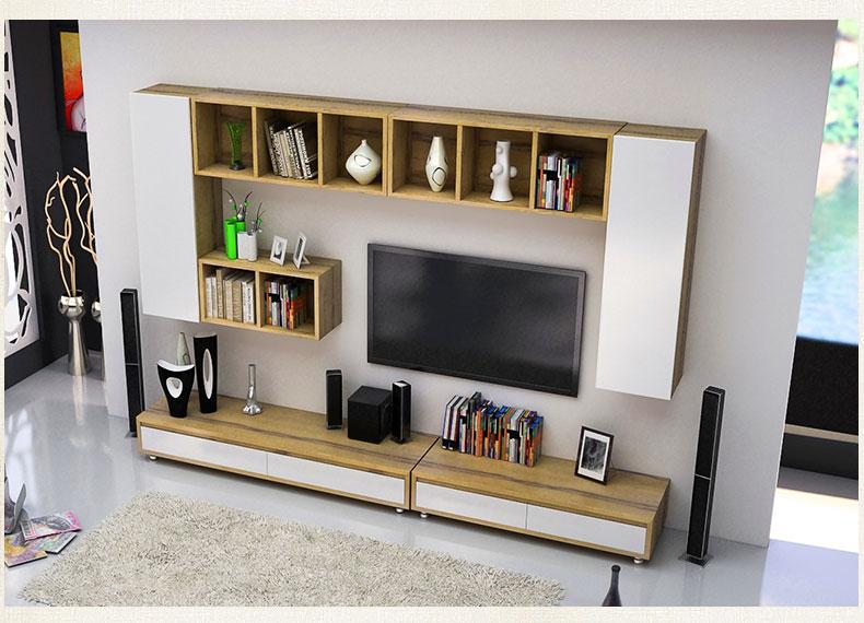 雅术 简约现代电视柜墙柜组合 伸缩电视柜 b款组合