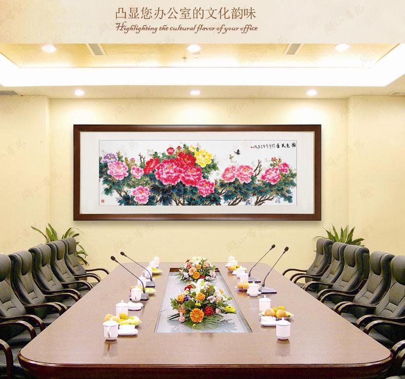 中式画客厅装饰画办公室挂画壁画手绘