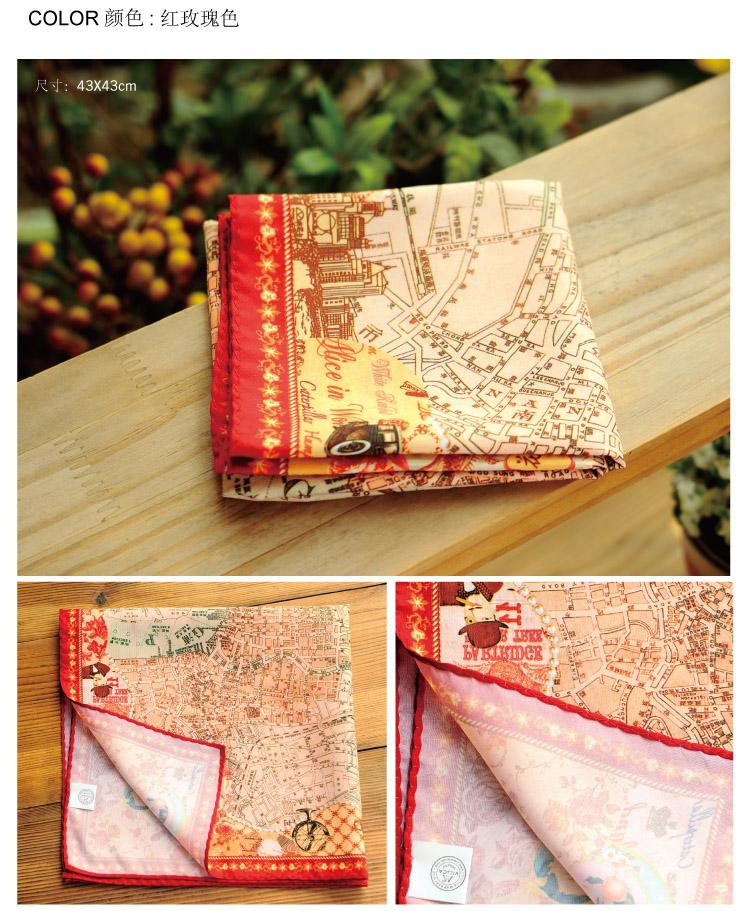viesca维易丝卡 老上海滩地图丝巾【花样年华】地方特色工艺旅游纪念