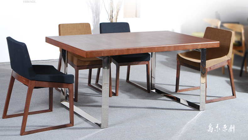 乌木原创 北欧风格宜家餐桌 简约实木餐台 小户型吃饭