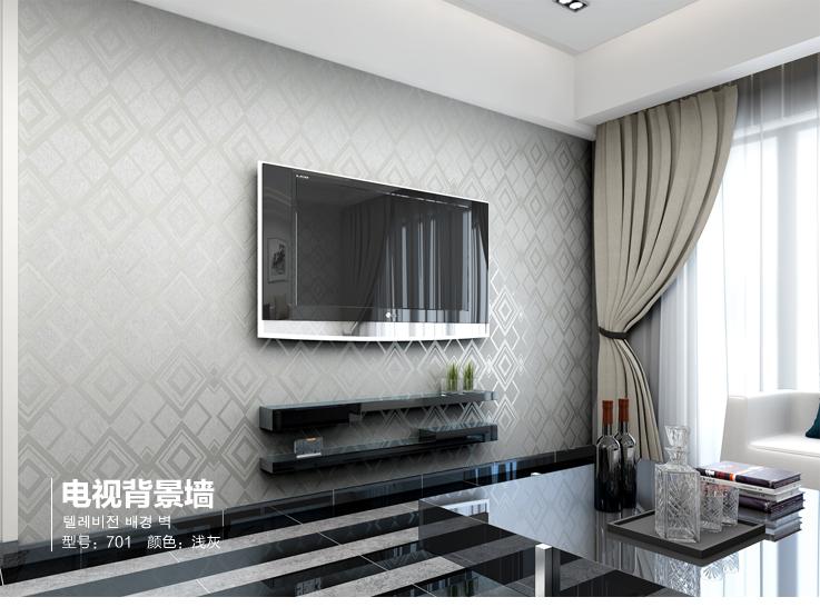 p玛尚无纺布墙纸 电视背景墙客厅简约壁纸 现代几何天丝无纺墙纸1450