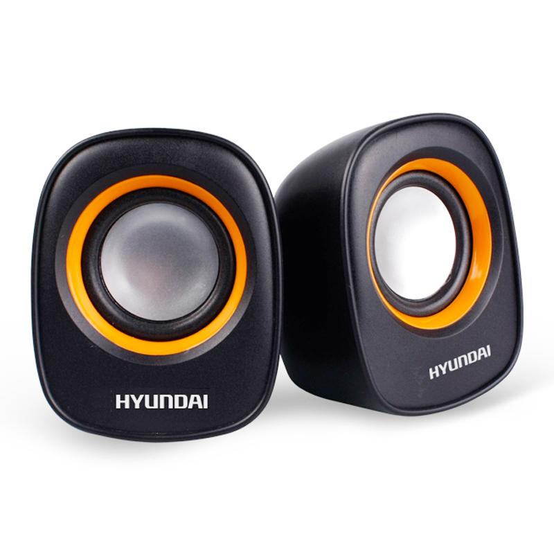 现代(HYUNDAI) HY-66T 笔记本\电脑USB音箱 2.0声道 带音量控制器 桌面迷你小对箱 超便携时尚型 黑色
