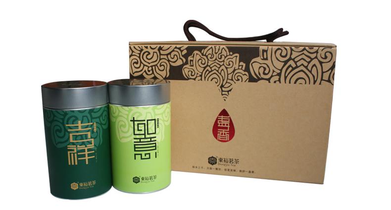 东裕茶叶 吉祥如意富硒茶组合茶礼盒 西乡特炒 汉中午子绿茶160g两筒图片