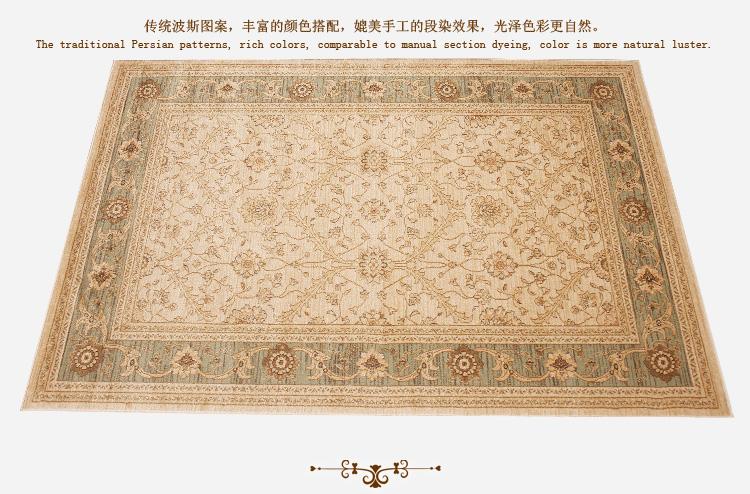 优立地毯 土耳其进口波斯地毯地垫 现代简约客厅地毯卧室床边毯 预售