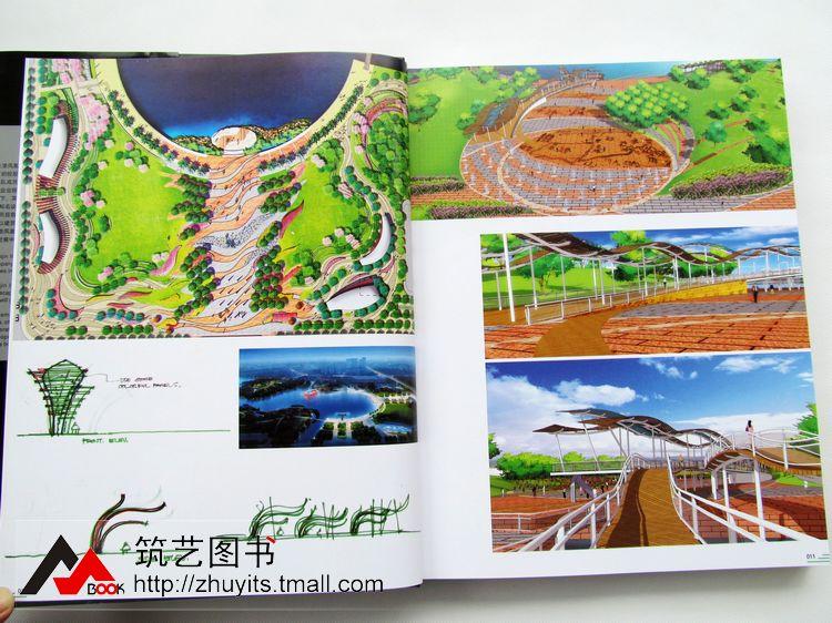 公园景观设计项目,配以丰富的手绘图