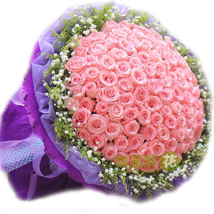 全国鲜花速递 99朵红玫瑰
