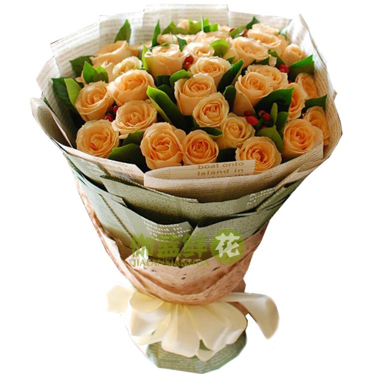 玫瑰花束 牛皮纸