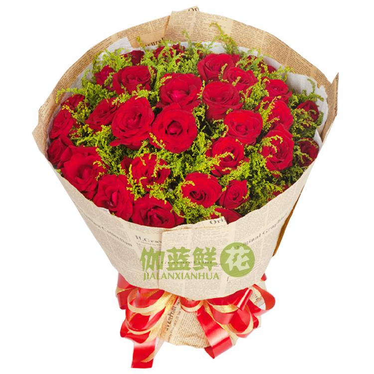 玫瑰花束画黑白展示