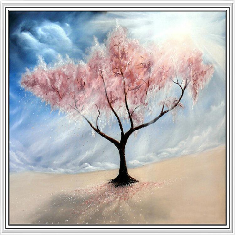 钻石画十字绣 樱花树图片