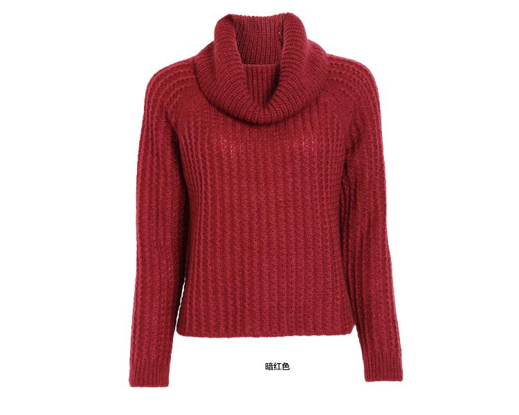 asobio 2014秋季新款女装 甜美可爱粗针毛线半高领毛衣4433223504 米