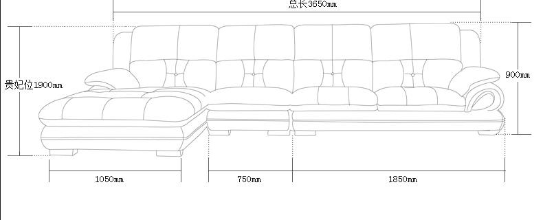 客厅沙发的尺寸平面图手绘图