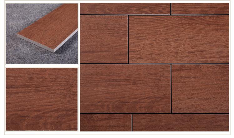 楼兰瓷砖 卧室木纹砖地板砖 仿实木地砖 防滑砖 仿古砖田园砖 e912068