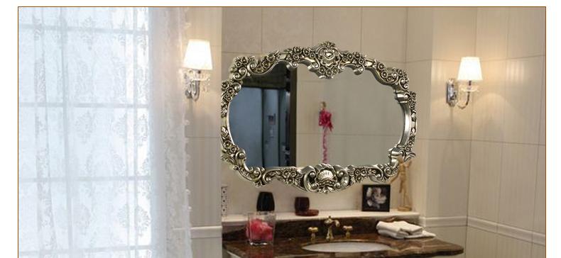 伯仑 豪华欧式镜 浴室镜子卫生间镜高档别墅娱乐场所装饰镜ctf8118 白