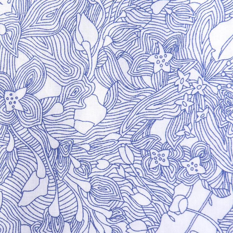 hla海澜之家2017夏季新品男装满身花纹长袖休闲衬衫