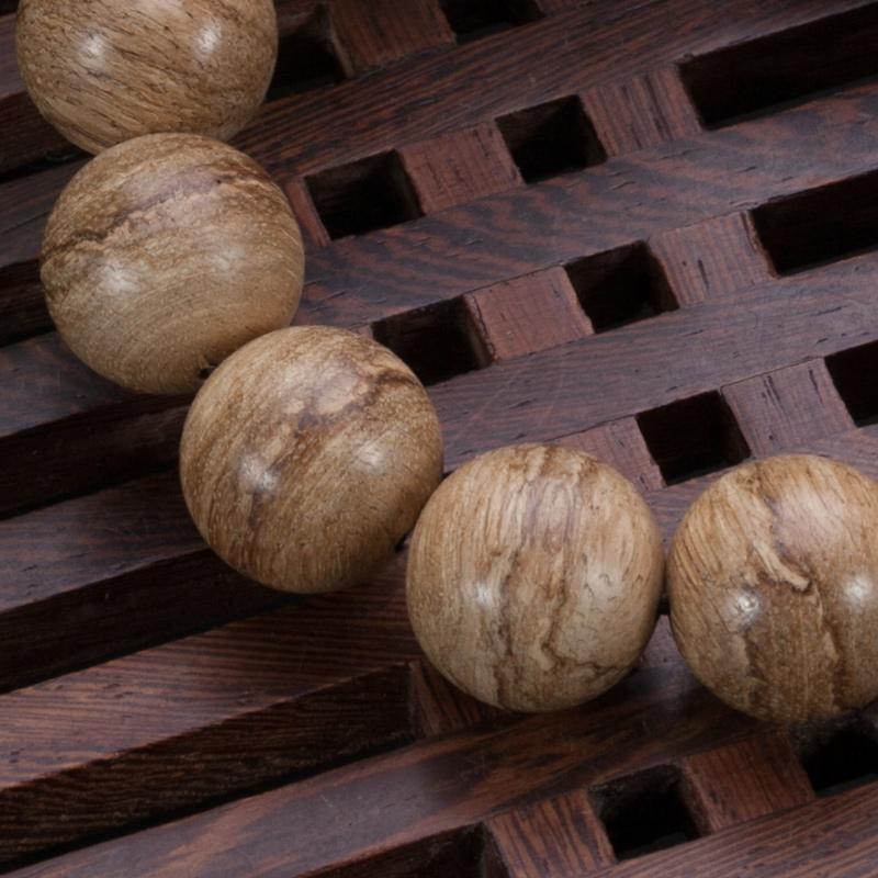 沐恩 天然马来西亚虎斑纹沉香手串16mm*14颗 sl2039-17.23g收藏臻品